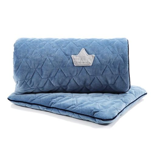 La Millou VELVET BLANKET & MID PILLOW | DENIM